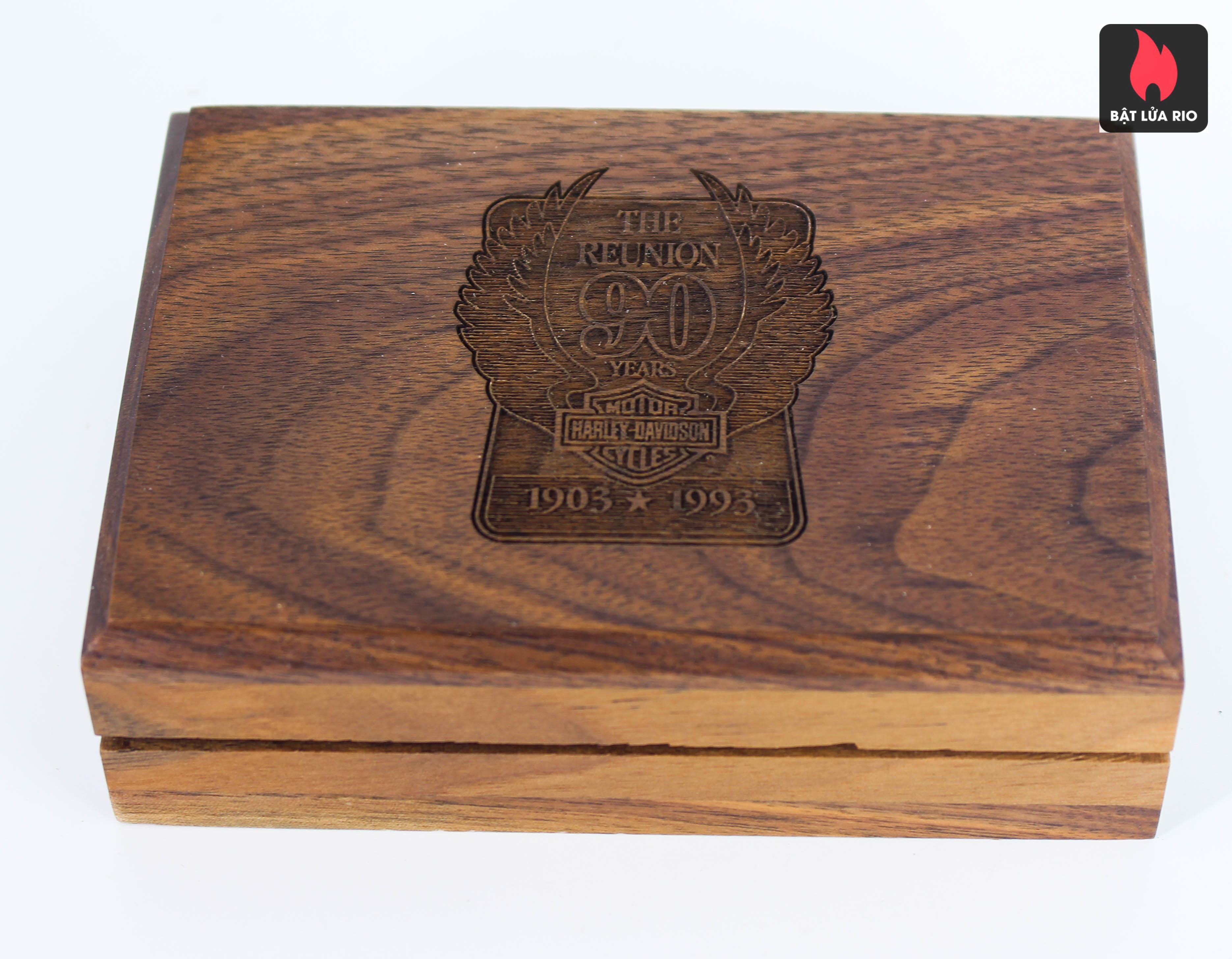 ZIPPO LA MÃ 1992 - 90TH ANNIVERSARY 1903-1993 – HARLEY DAVIDSON®