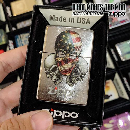 Zippo 24647 Three Skulls