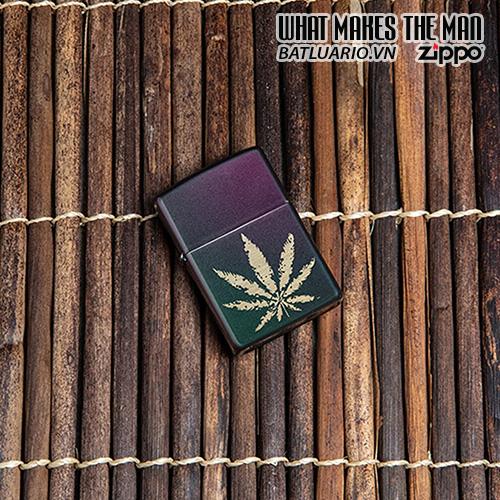 Zippo 49185 - Zippo Iridescent Marijuana Leaf 1
