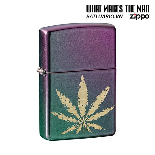 Zippo 49185 - Zippo Iridescent Marijuana Leaf