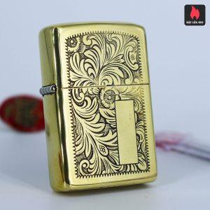 Hiếm – Zippo 1979 – Solid Brass – Venetian – Hoa Văn Ý