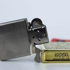 Hiếm - Zippo 1980 - Solid Brass - Venetian - Hoa Văn Ý 1