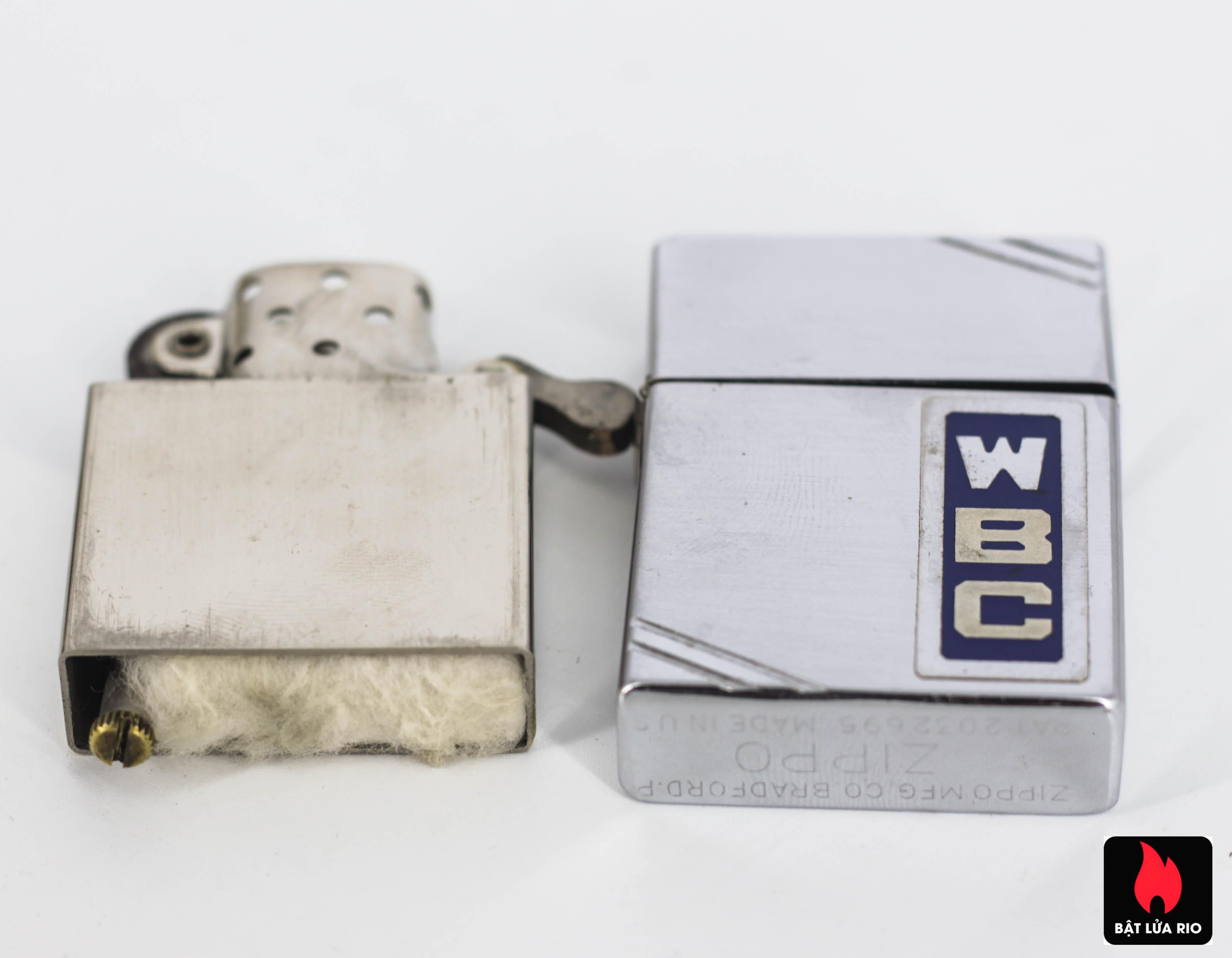 HIẾM – Zippo Xưa 1936 Metallique – W.B.C – Bản Lề 4 Chấu – Ruột Pitton 14 Lỗ 3