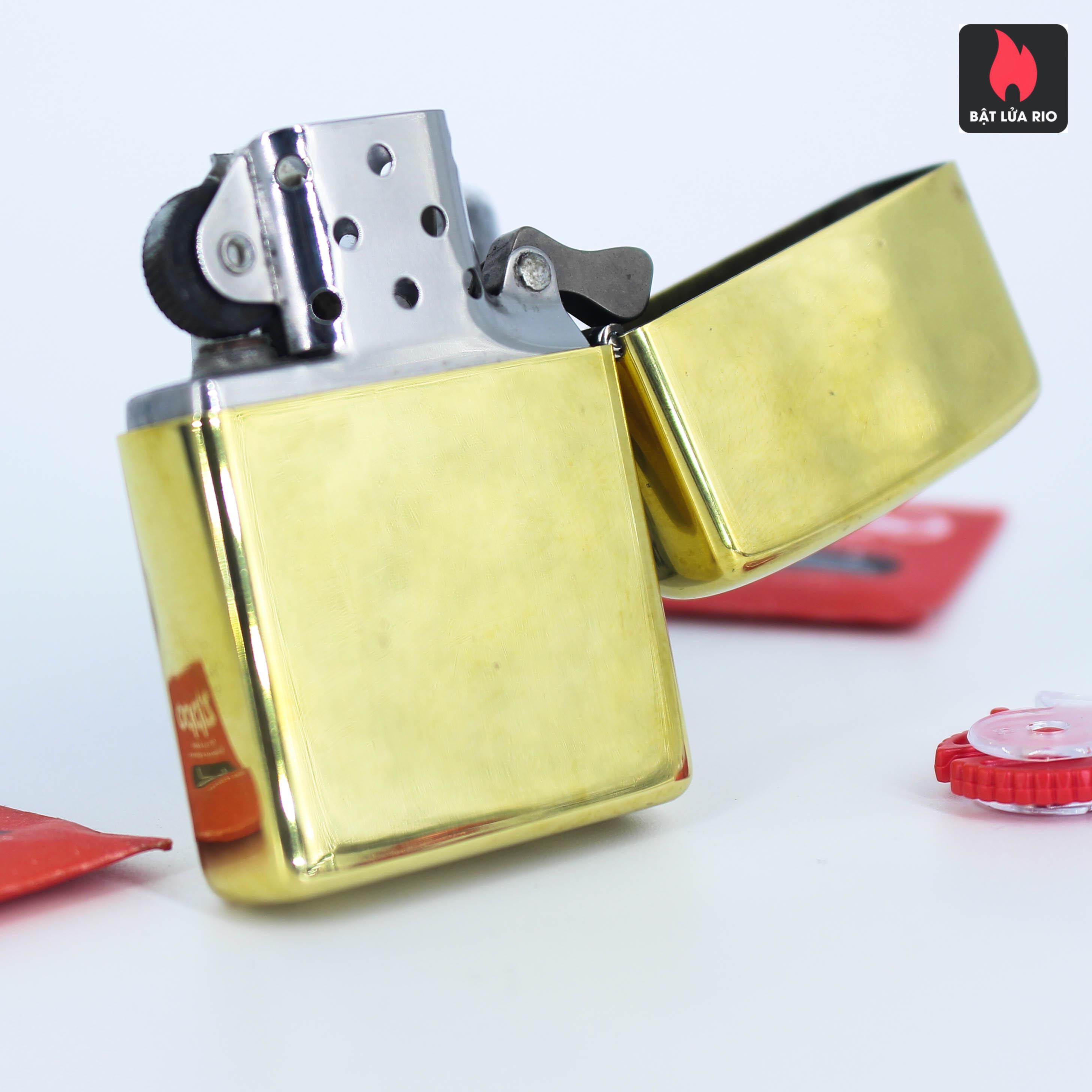 Hiếm – Zippo Xưa 1977 – Solid Brass – Đồng Nguyên Khối - High Polished 5