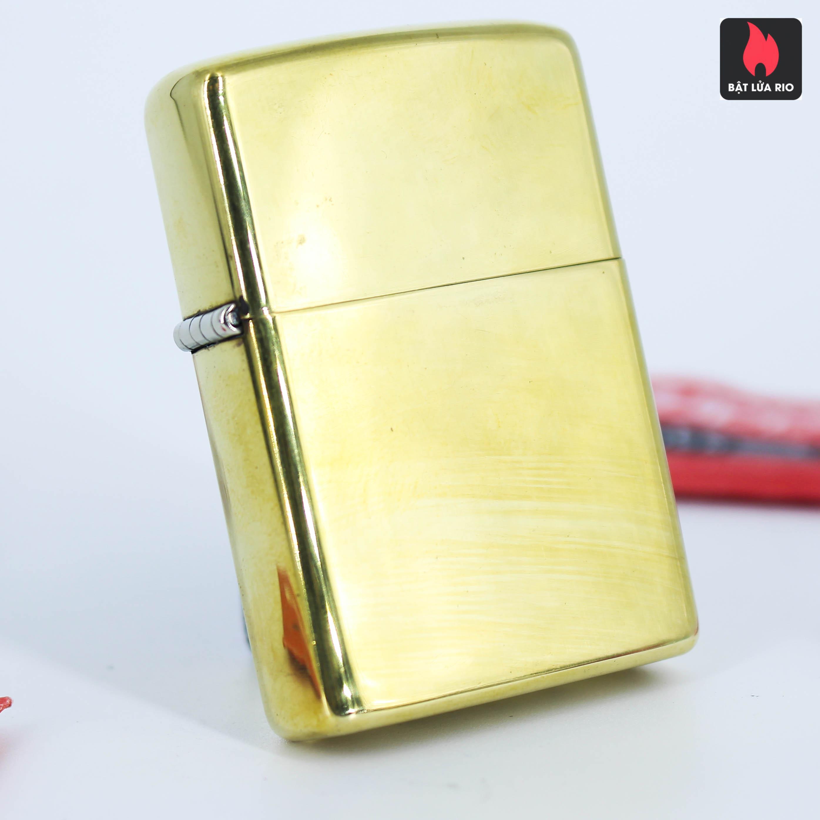 Hiếm – Zippo Xưa 1977 – Solid Brass – Đồng Nguyên Khối - High Polished