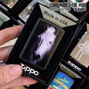 ZIPPO 218 WHITE HORSE