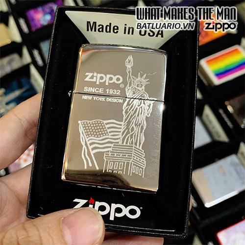 Zippo 250 Flag & Statue Of Liberty