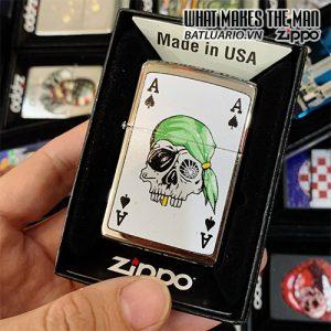 Zippo 250 Skull Patch Web