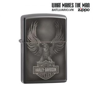 Zippo 49044 - Zippo Harley-Davidson® Bar & Shield logo Black Ice