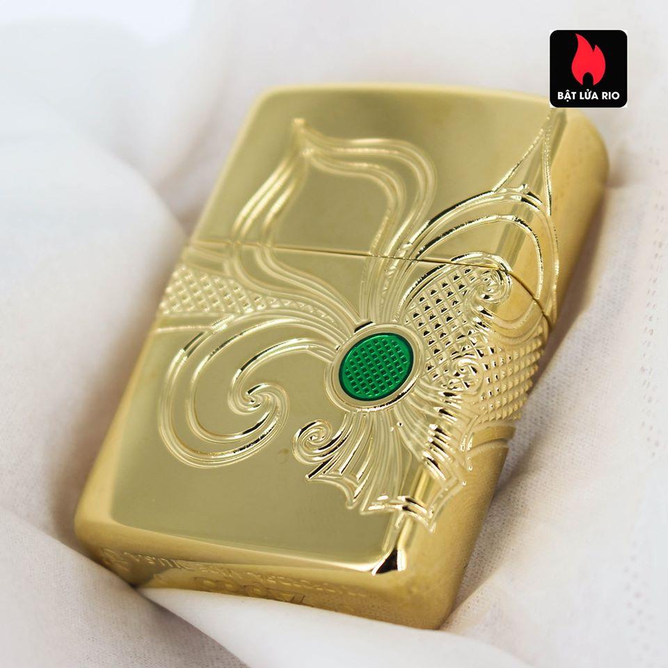 Zippo 49108 - Zippo Armor® Fleur-de-lis Design Gold Plate 19