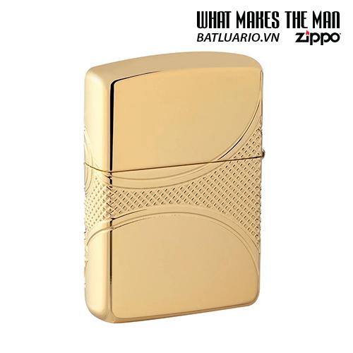 Zippo 49108 - Zippo Armor® Fleur-de-lis Design Gold Plate 2