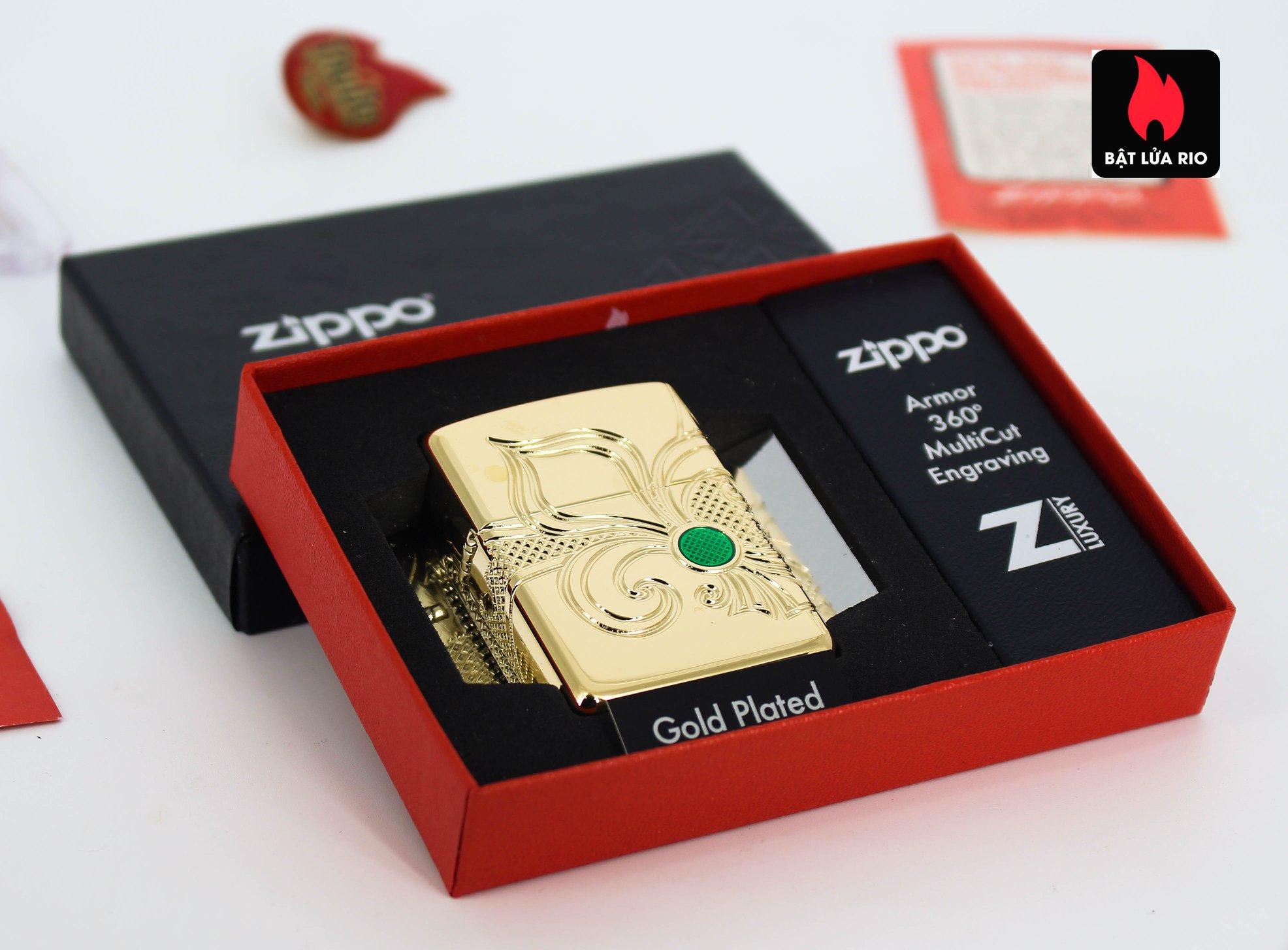 Zippo 49108 - Zippo Armor® Fleur-de-lis Design Gold Plate 3