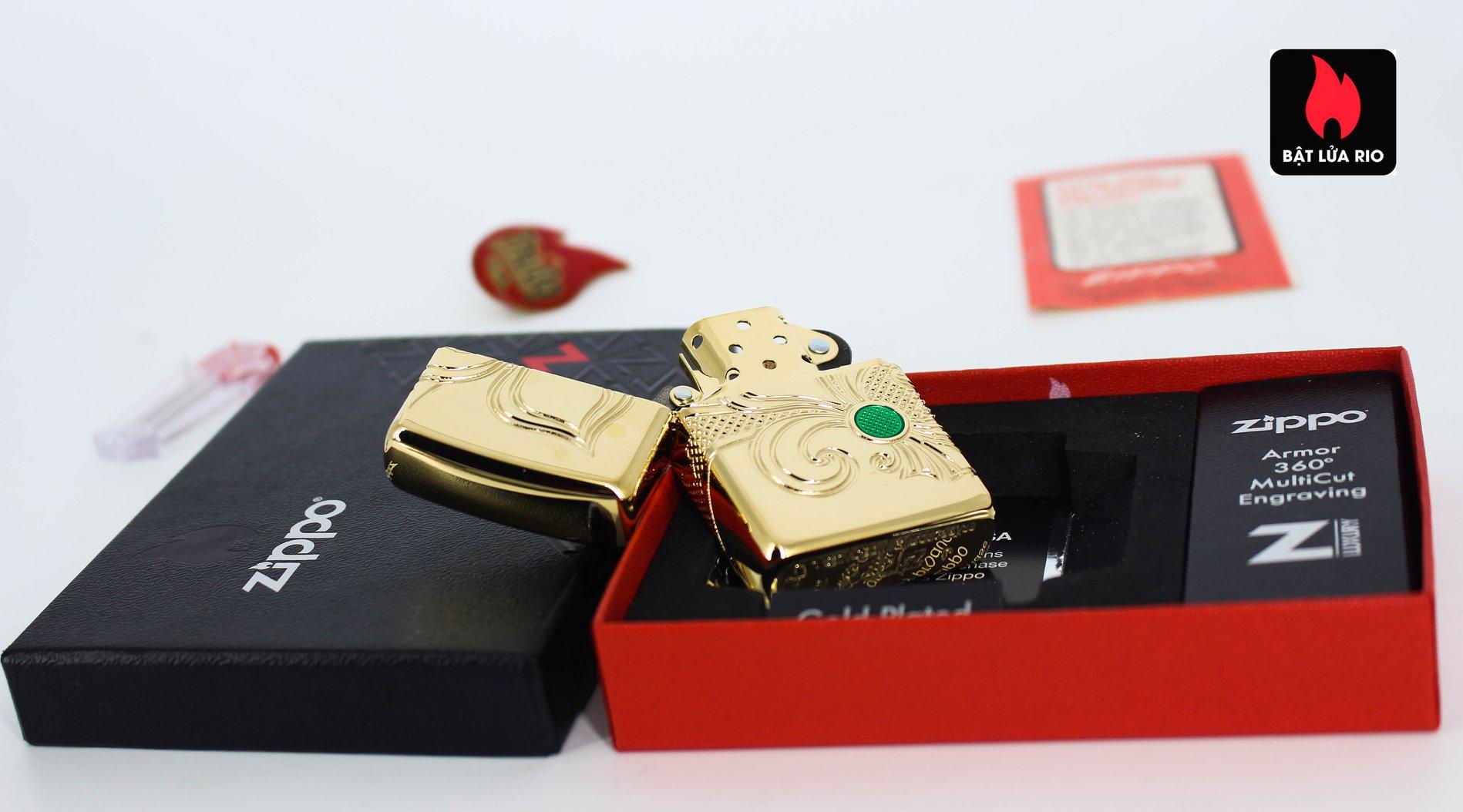Zippo 49108 - Zippo Armor® Fleur-de-lis Design Gold Plate 6