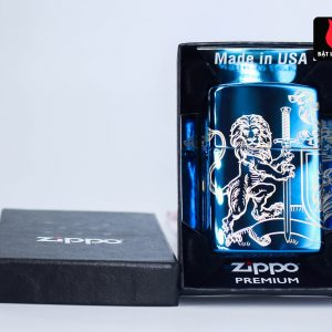 Zippo 49126 - Zippo Medieval Coat of Arms Design 360° High Polish Blue 2