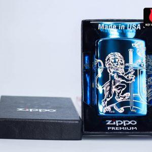 Zippo 49126 - Zippo Medieval Coat of Arms Design 360° High Polish Blue 2