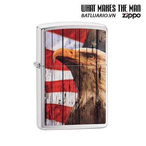 Zippo 49133 - Zippo Patriotic Eagle Brushed Chrome