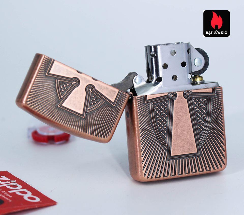 Zippo 49158 - Zippo Armor® Deep Carve Cross Design Antique Copper 4