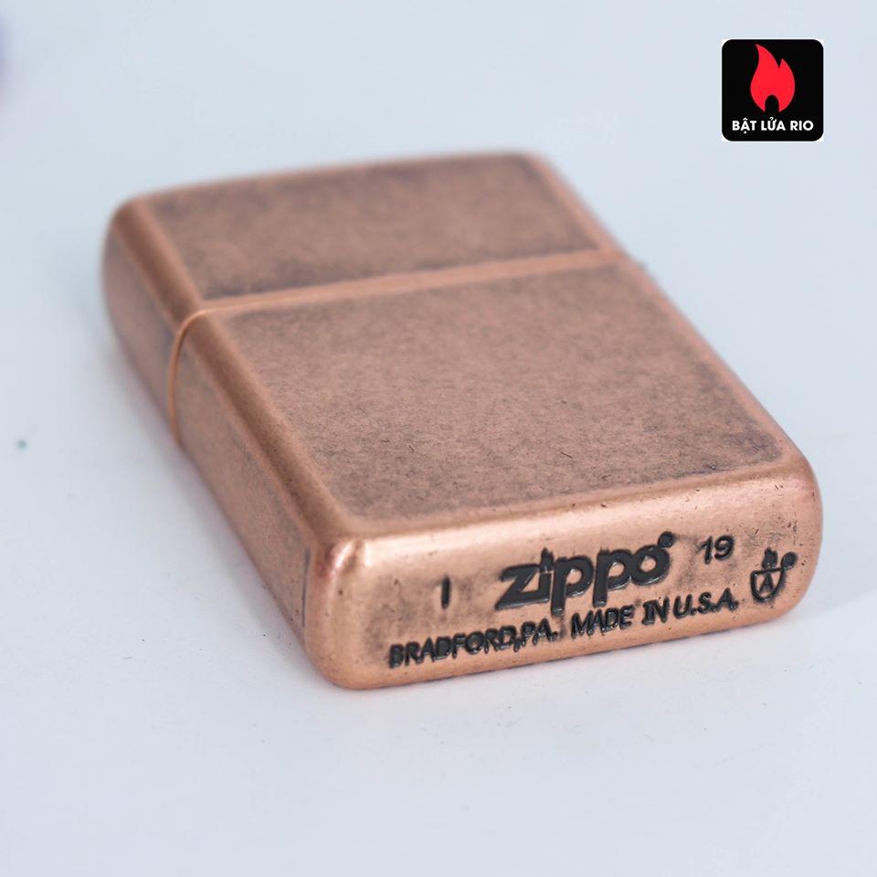 Zippo 49158 - Zippo Armor® Deep Carve Cross Design Antique Copper 9