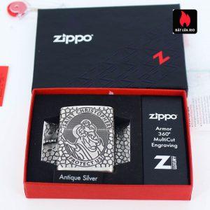 Zippo 49160 - Zippo Armor® St. Christopher Medal Design Antique Silver 2