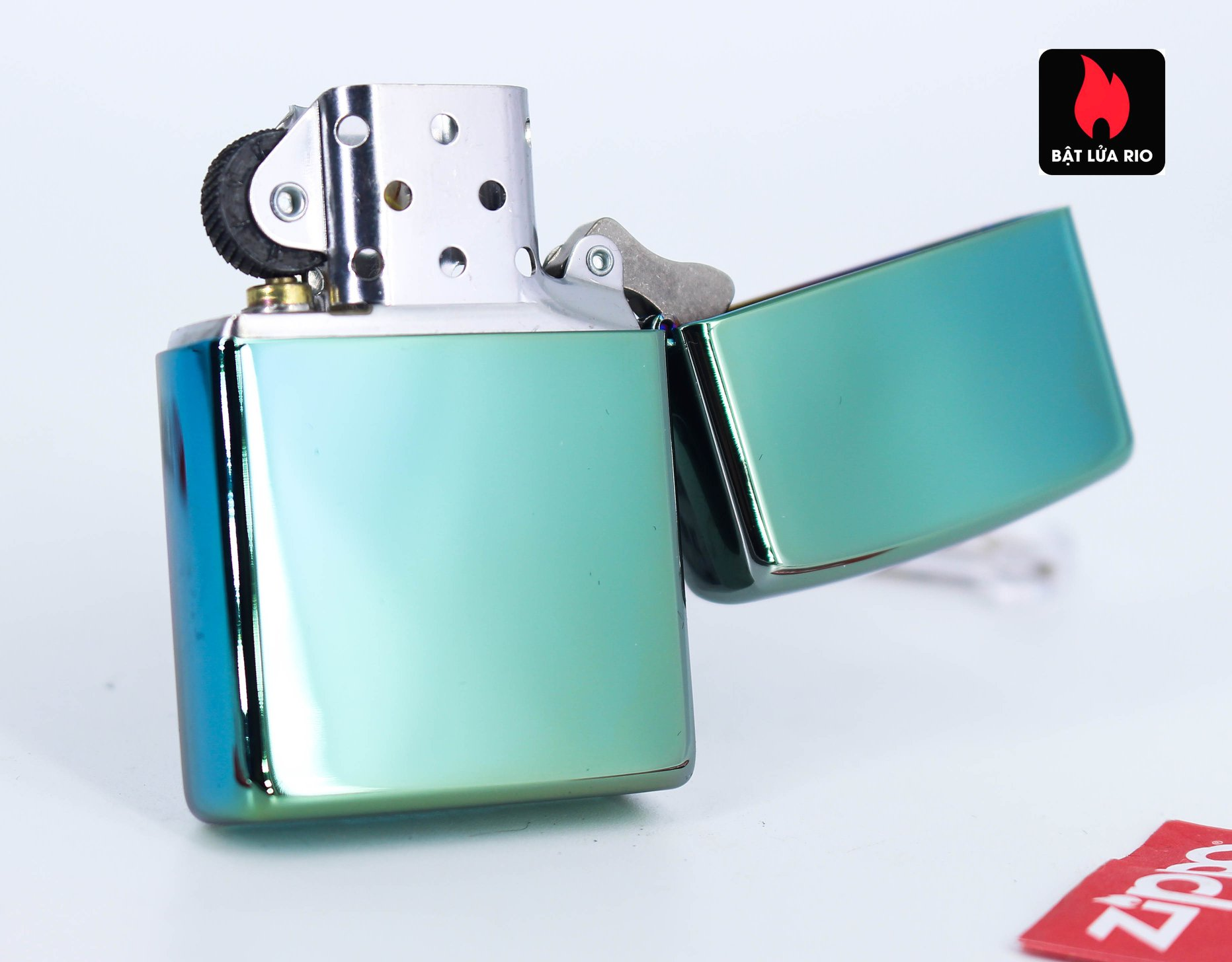 Zippo 49161 - Zippo Follow Your Way Design High Polish Green 4