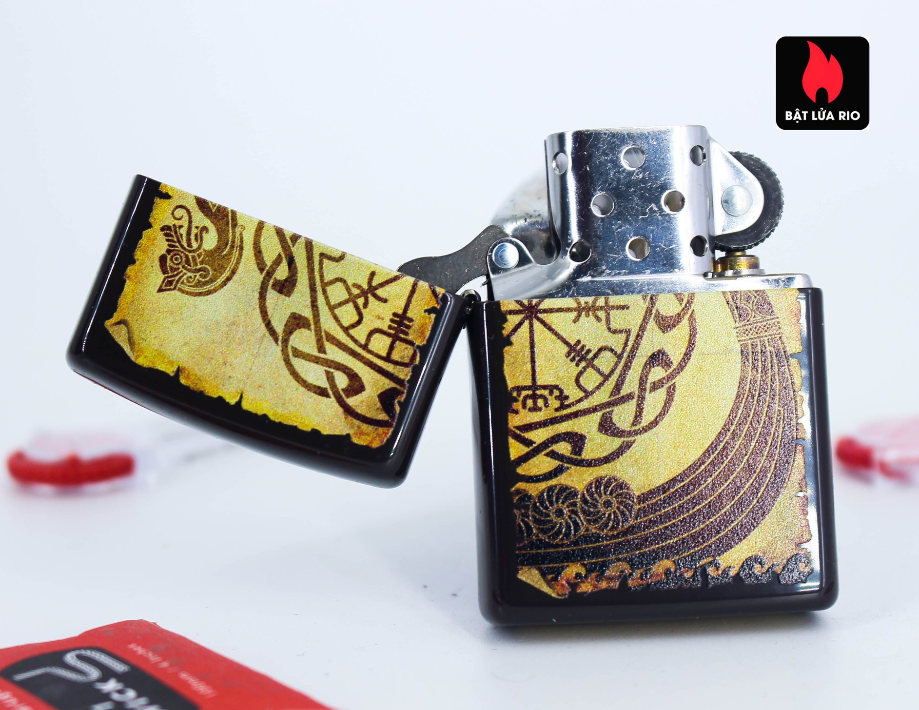 Zippo 49182 - Zippo Viking Warship Design Brown 2