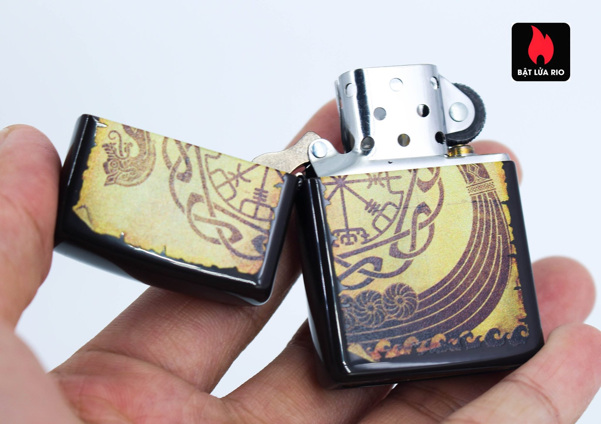 Zippo 49182 - Zippo Viking Warship Design Brown 7