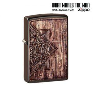 Zippo 49184 - Zippo Wood Mandala Design Brown