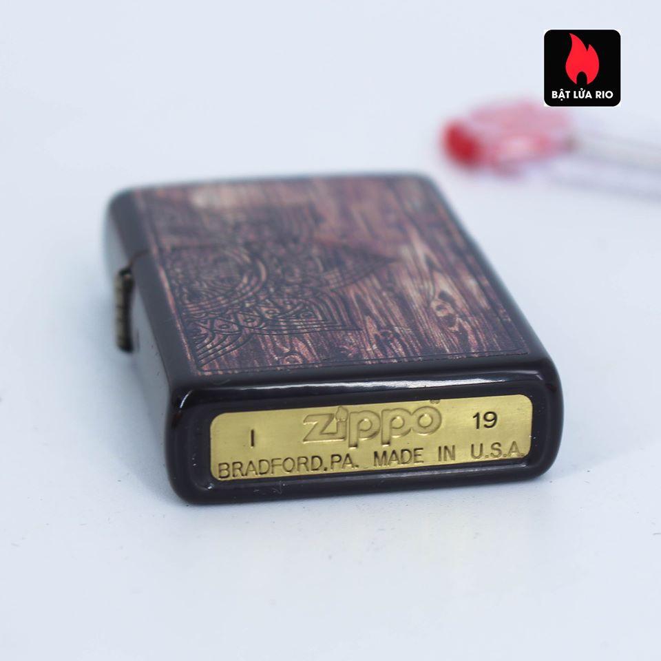 Zippo 49184 - Zippo Wood Mandala Design Brown 7