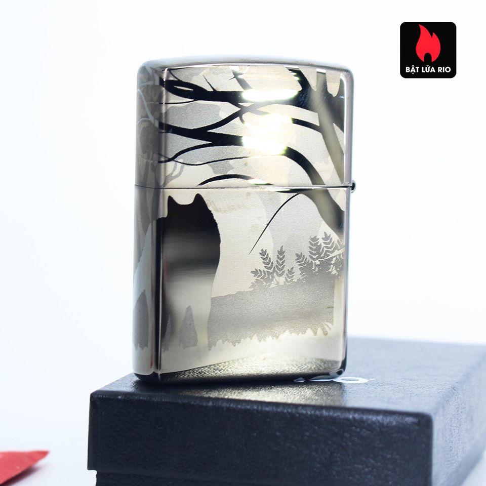 Zippo 49188 - Zippo Wolves Design 360° Black Ice 12