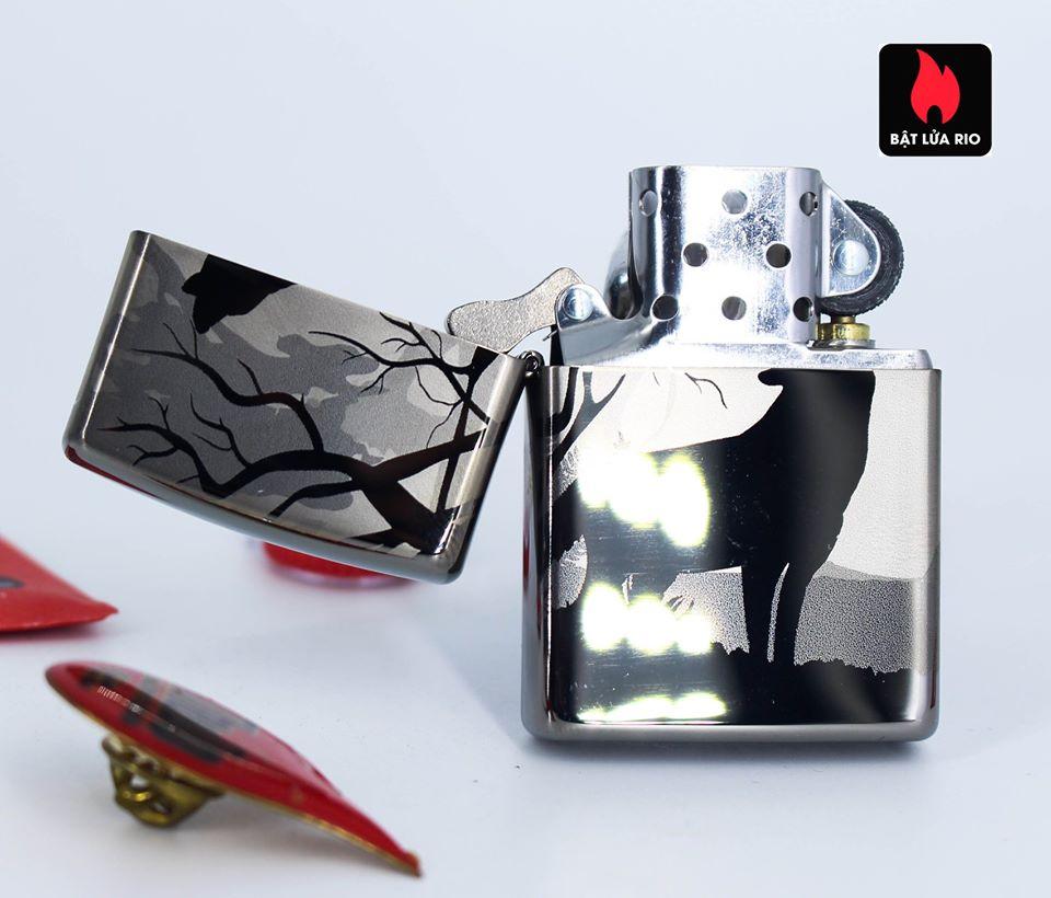 Zippo 49188 - Zippo Wolves Design 360° Black Ice 6