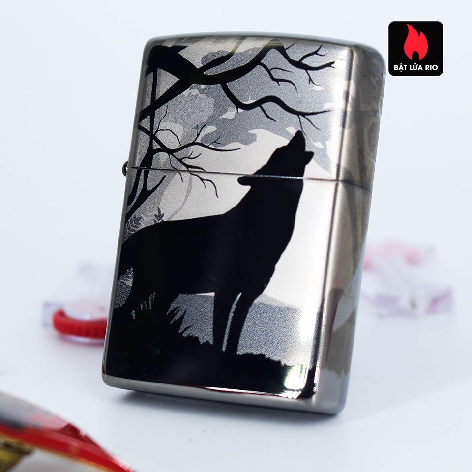 Zippo 49188 - Zippo Wolves Design 360° Black Ice 9