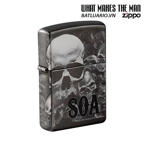 Zippo 49192 - Zippo Sons of Anarchy™ 360° Skulls Black Ice