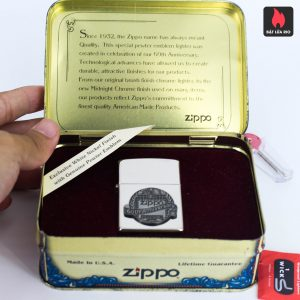 Zippo La Mã 1992 - White Nickel Finish - 60TH Anniversary