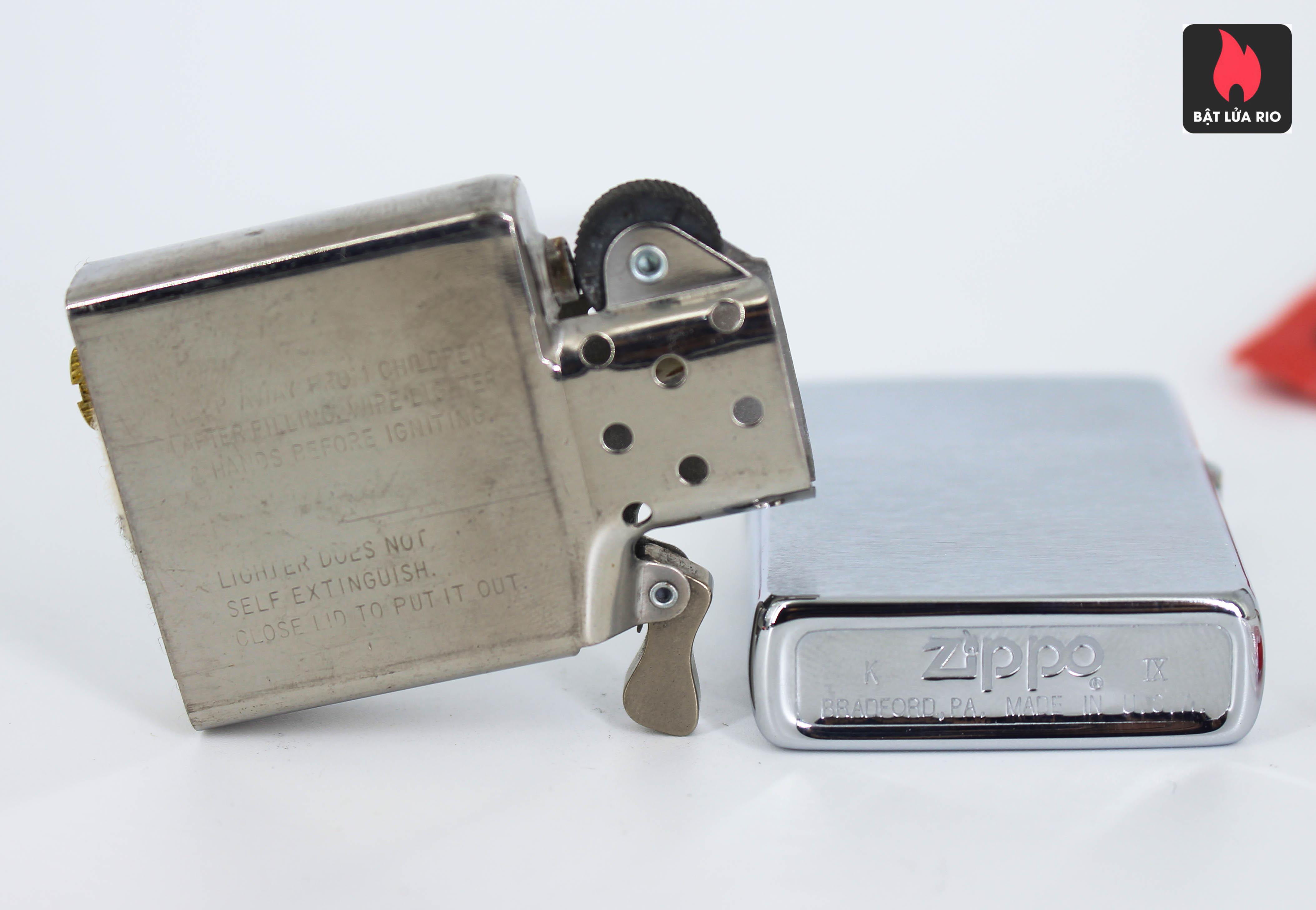 Zippo La Mã 1993 – Brushed Chrome – Plain – Trơn 2 Mặt 1