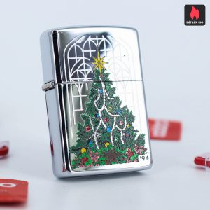 Zippo La Mã 1994 – Christmas Tree High Polish Chrome