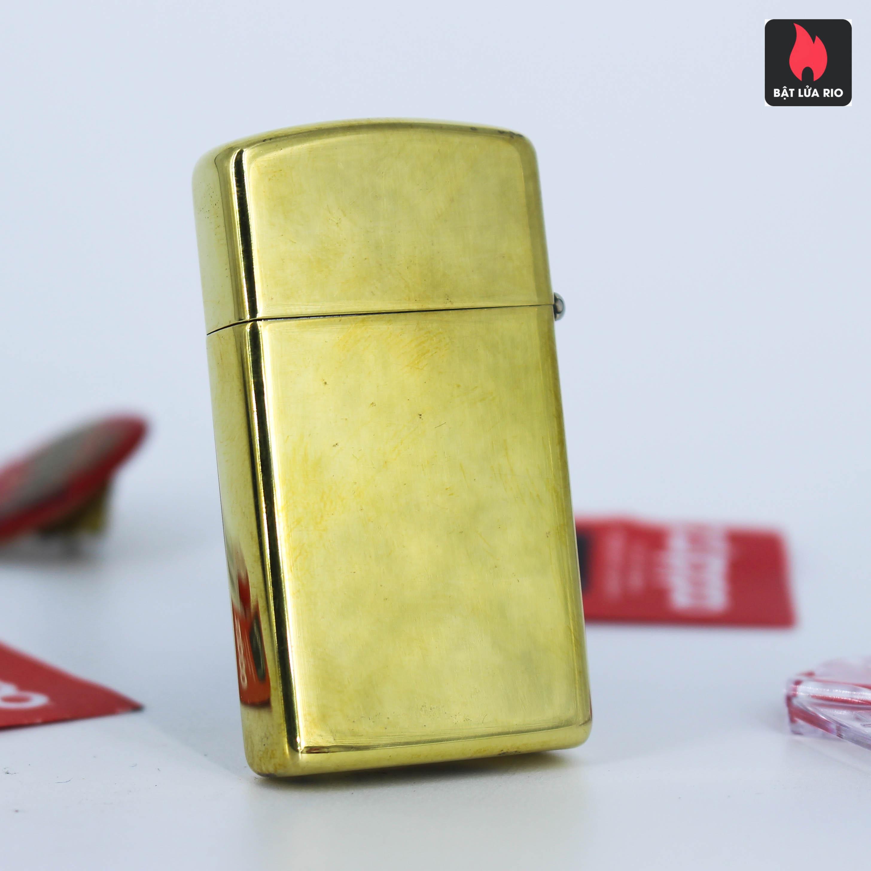 Zippo Slim 1980 - Solid Brass - Elegance 5