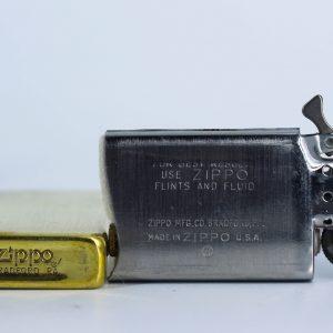 Zippo Slim 1980 – Solid Brass – Venetian – Hoa Văn Ý 1