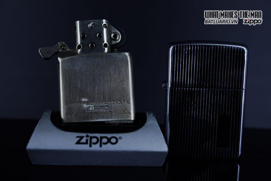 Zippo Xưa 1947 – 1949 – Engine Turned - 3 Chấu 3