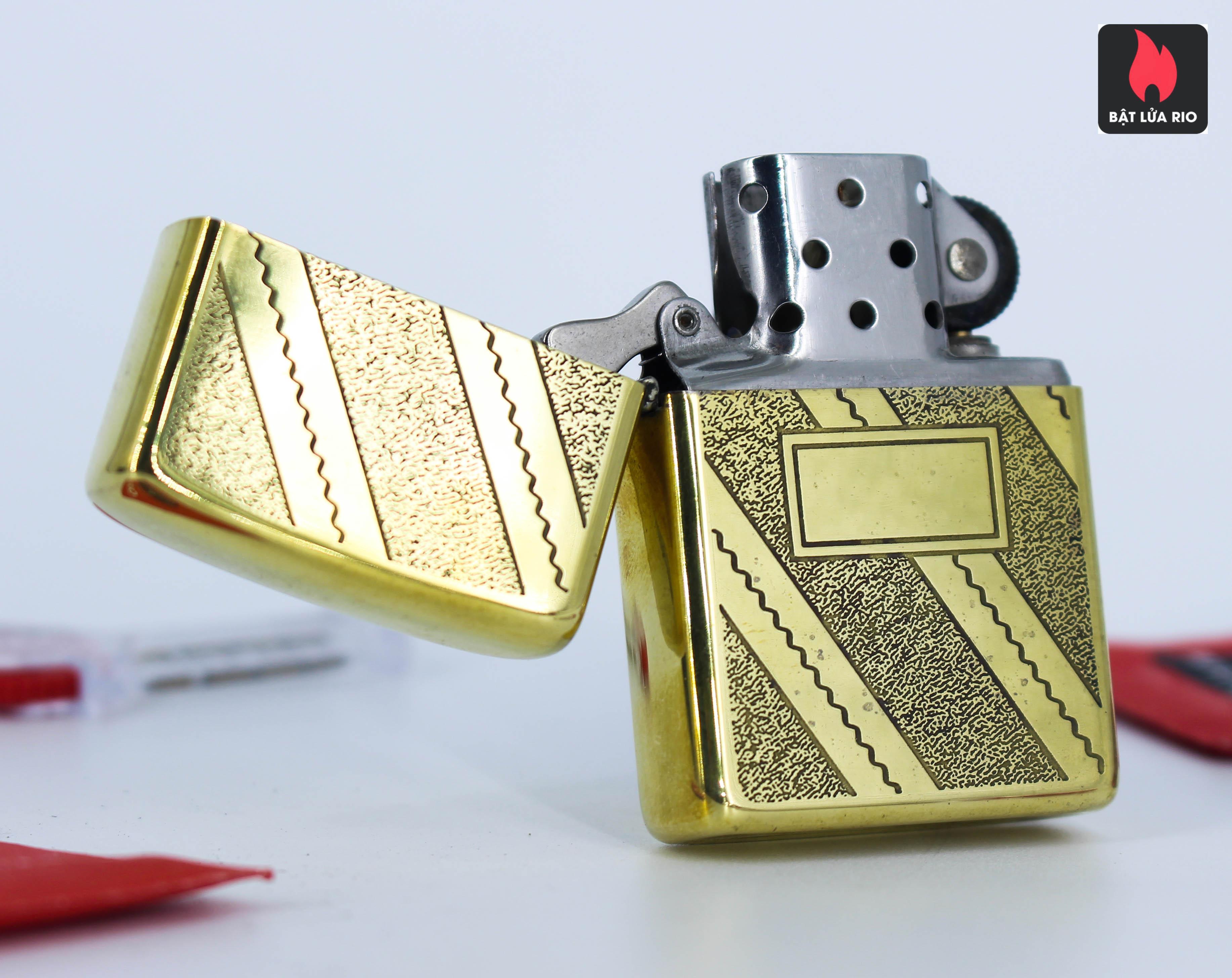 Zippo Xưa 1980 – Solid Brass – Elegance 5