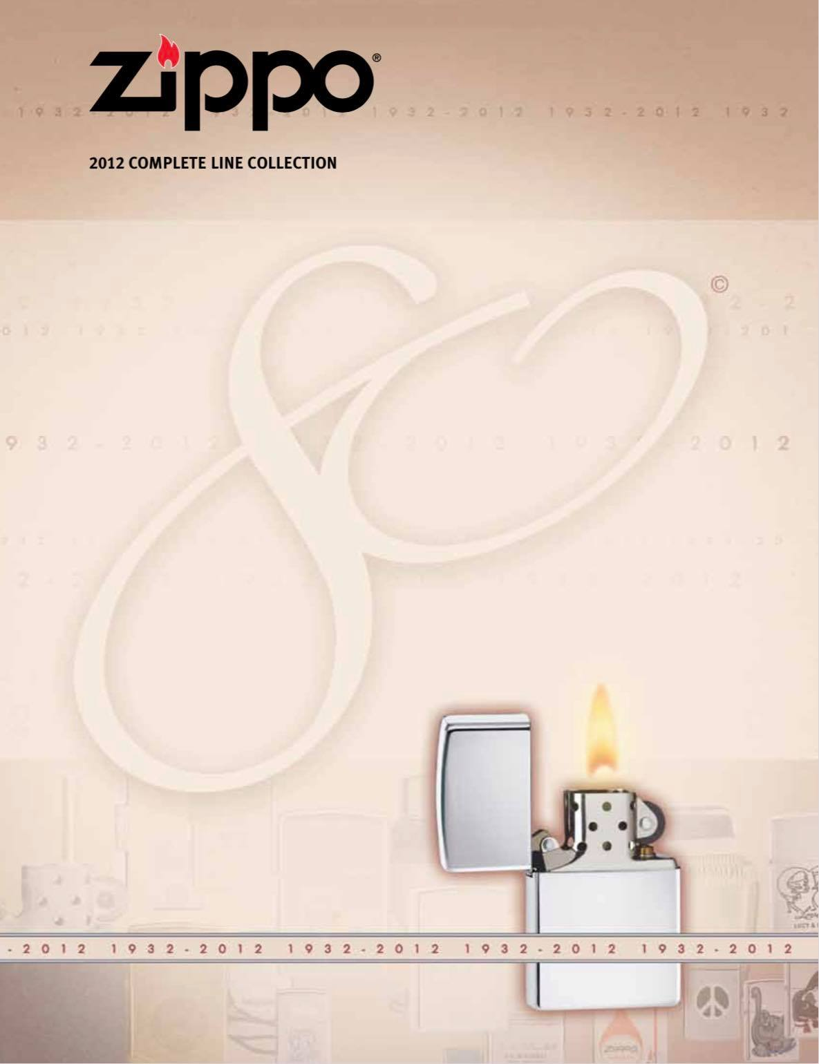 Zippo 2012 Complete Line Collection US