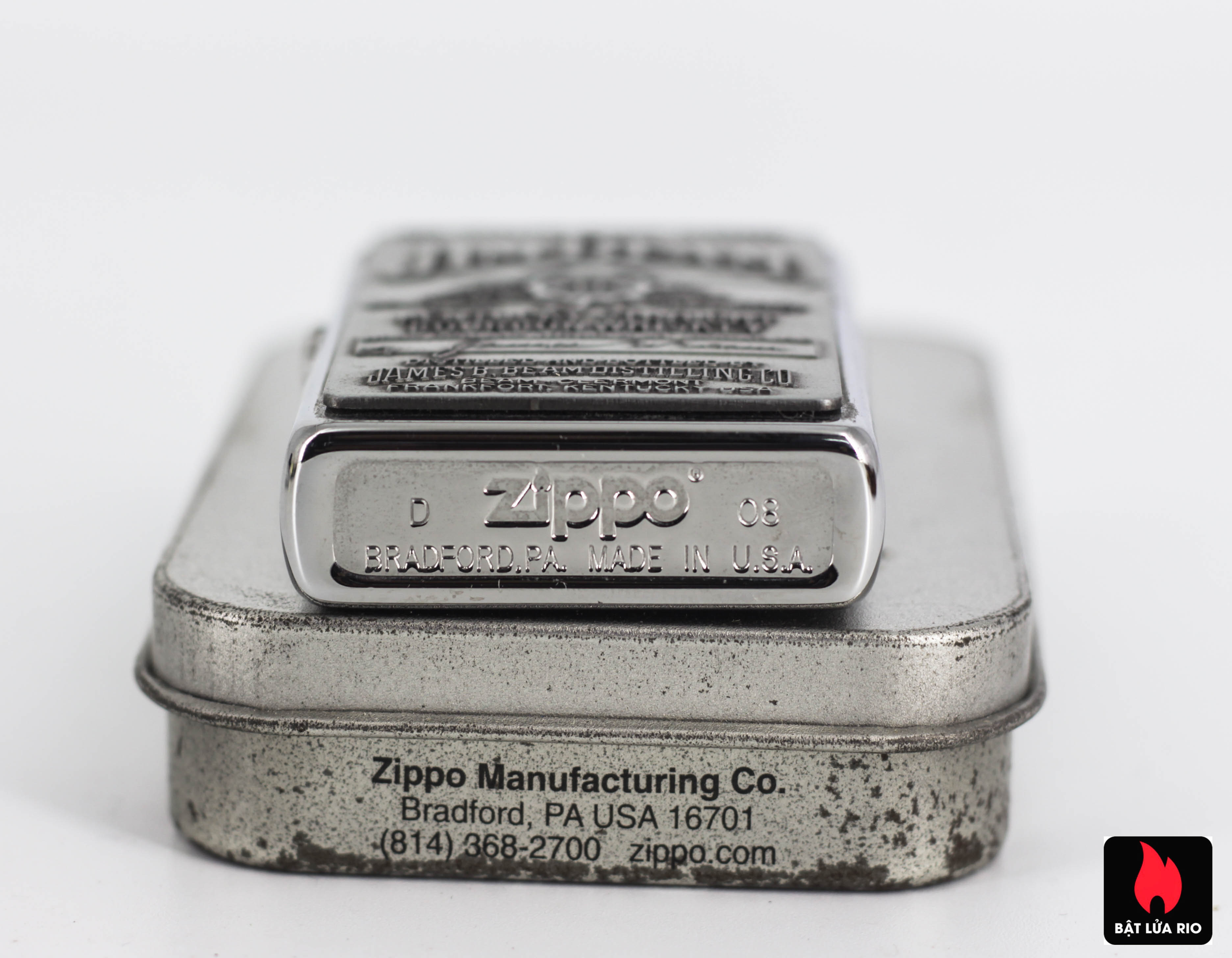 Zippo 2008 - Zippo Jim Beam Emblem High Polish Chrome 3