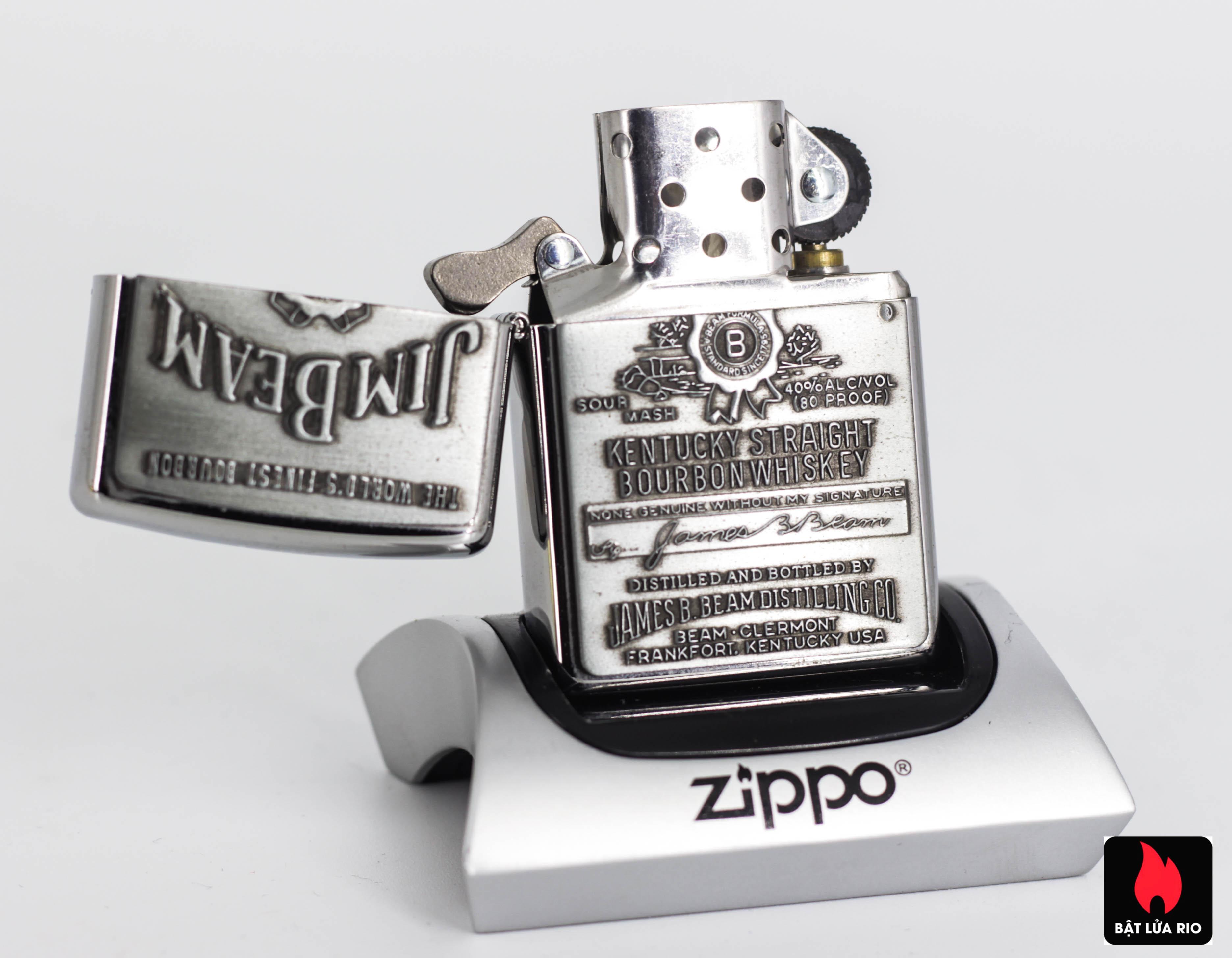 Zippo 2008 - Zippo Jim Beam Emblem High Polish Chrome 5