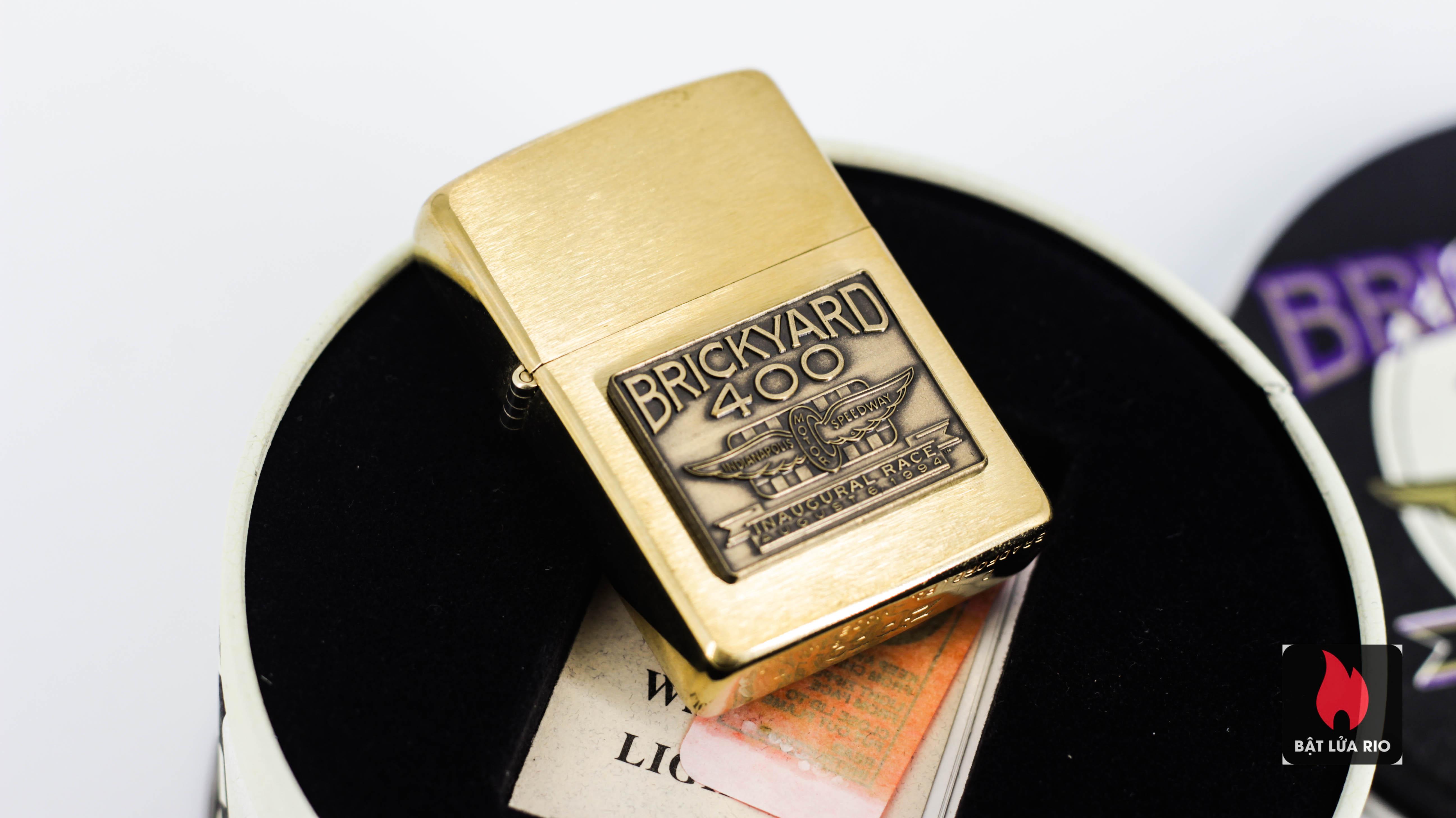 Zippo La Mã 1994 - Brickyard 400 - Brushed Brass 2