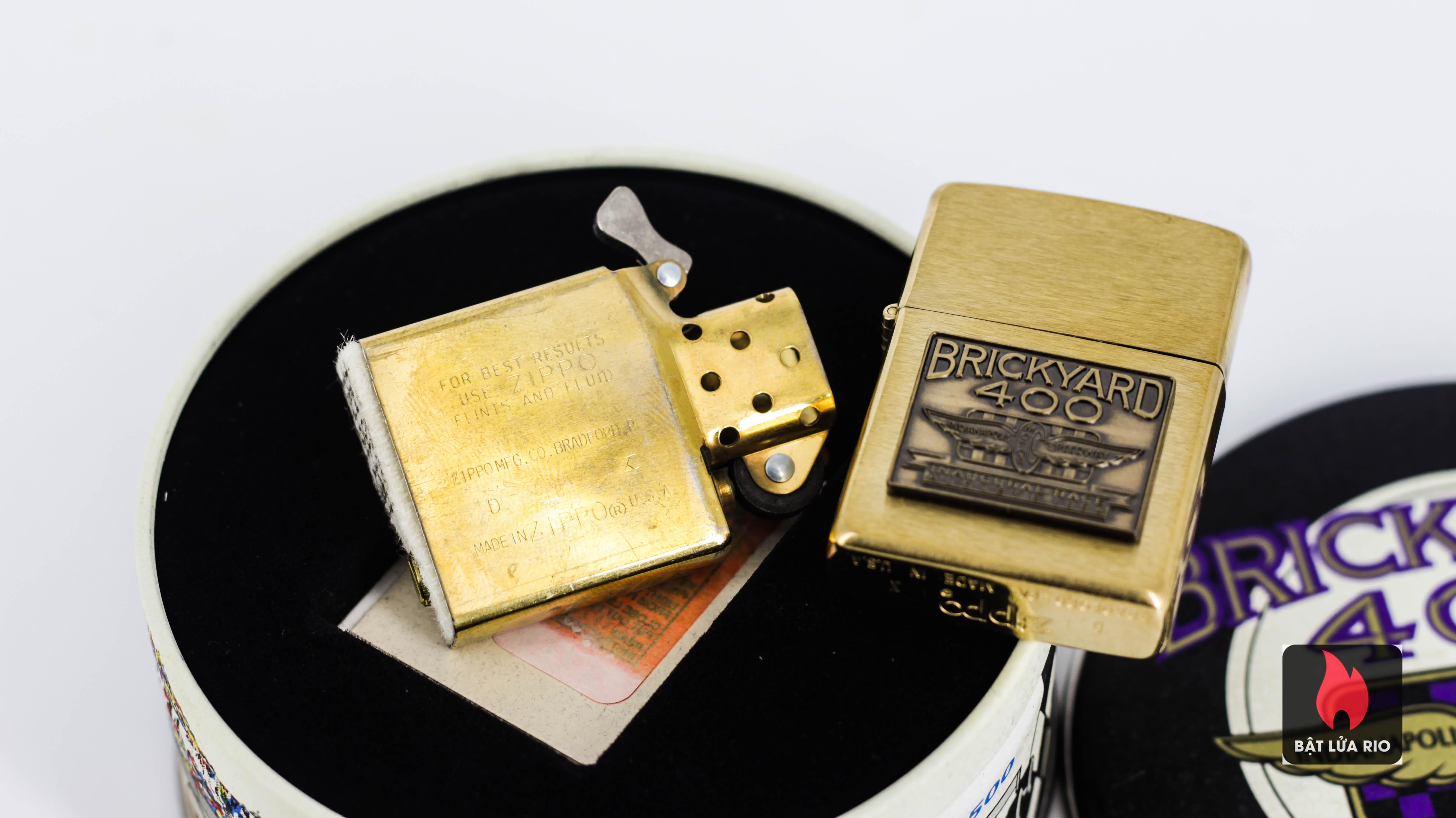 Zippo La Mã 1994 - Brickyard 400 - Brushed Brass 4