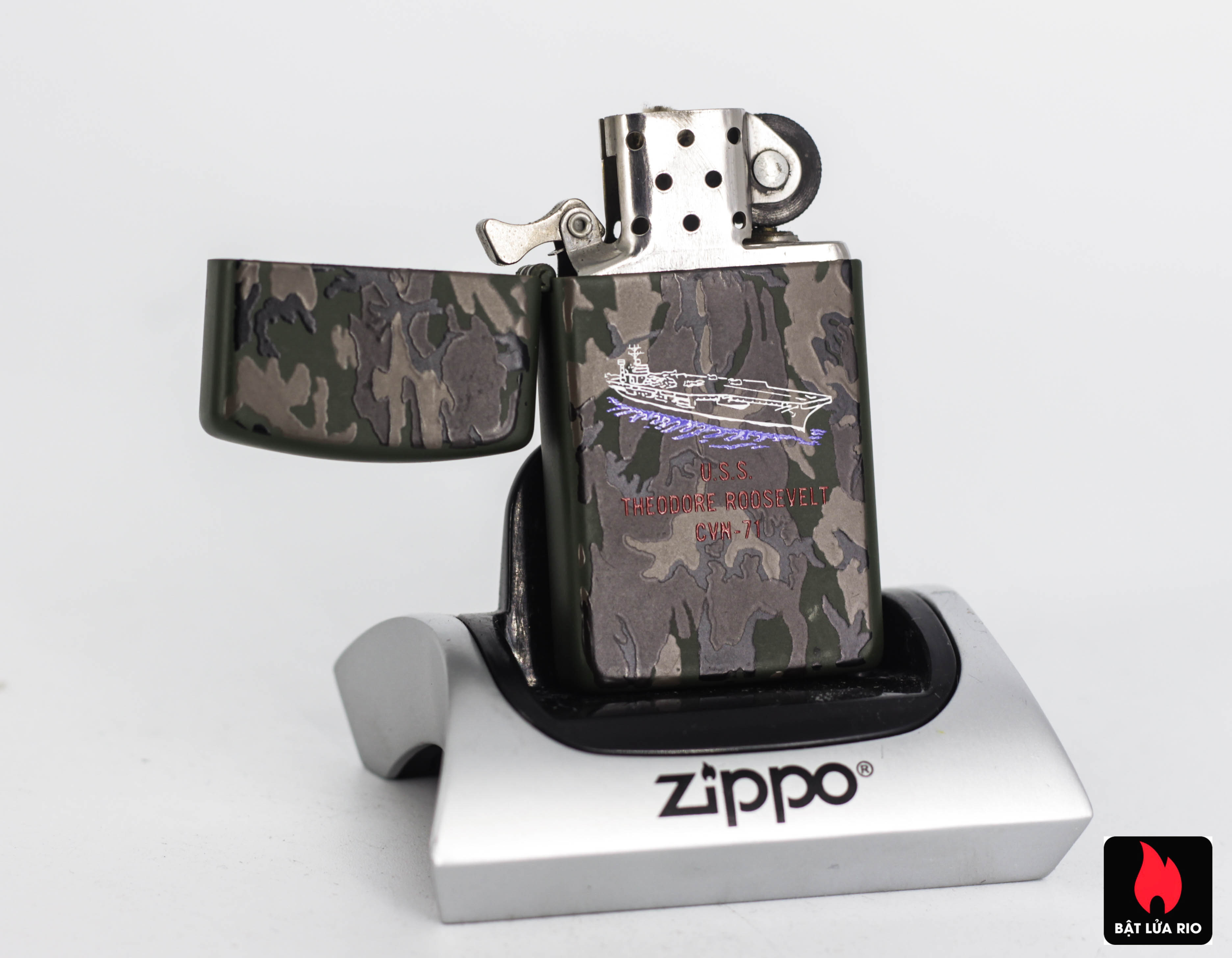 Zippo Slim 1992 - Camo - Uss Theodore Roosevelt CVN 71 4