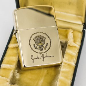 Zippo Xưa 1960s - Lyndon B. JohnSon - 10k Gold Filled