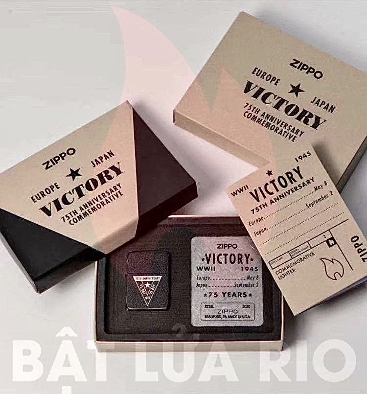 Bộ Sưu Tập Zippo phiên bản giới hạn kỷ niệm 75 năm chiến thắng tại Châu Âu và Nhật Bản, kết thúc WWII 3