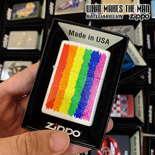 Zippo 214 Rainbow Design
