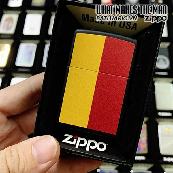 Zippo 218 Red Yellow Stripers
