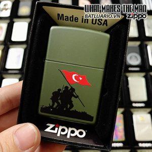 Zippo 221 Turkey Soldiers Flag Design